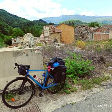 in bici per l'italia tappa 11 amatrice